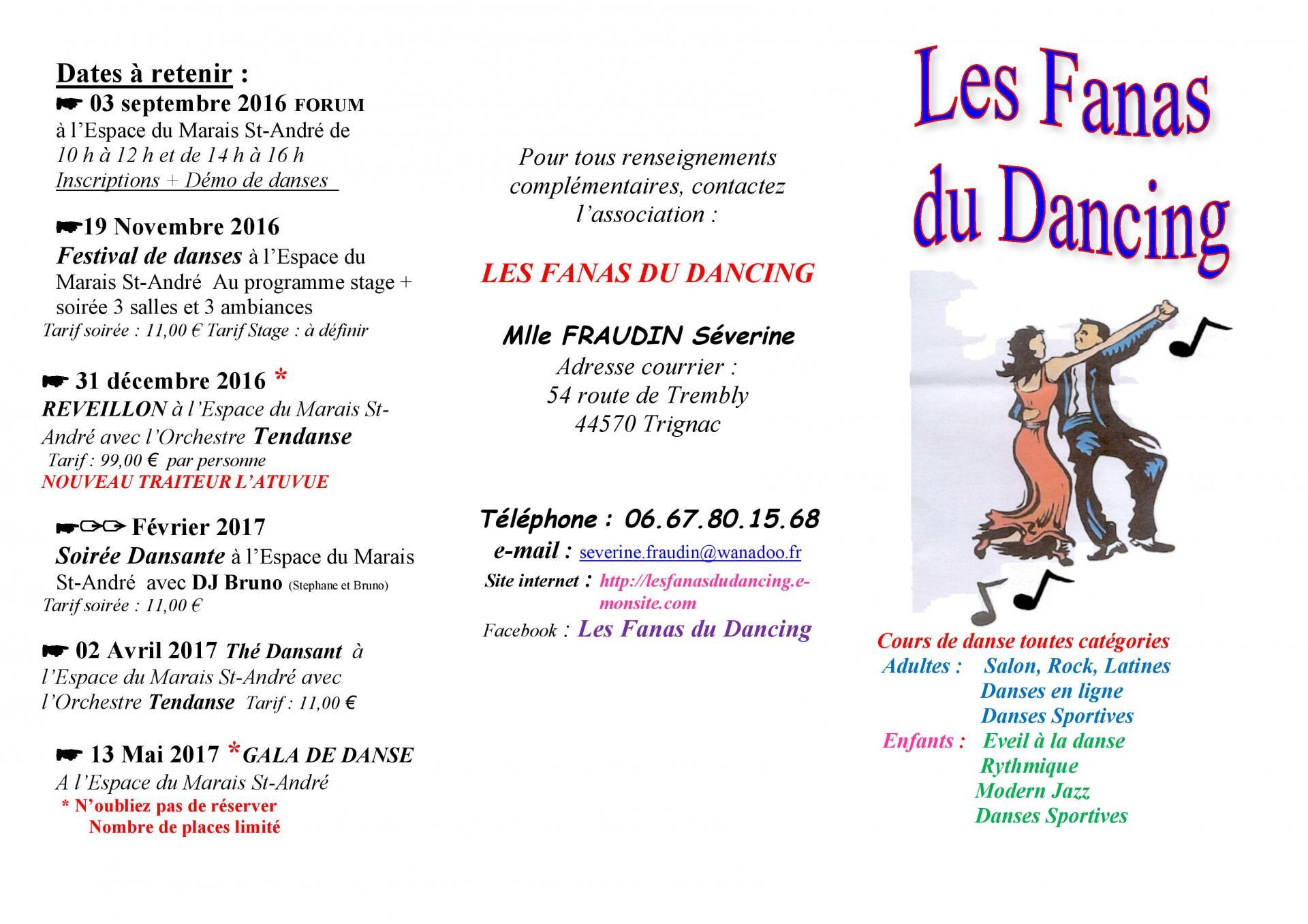 Plaquette fanas du dancing cours 2016 2017 page 001